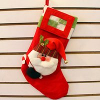 Cheap Christmas gift bag Xmas decorations Christmas santa photo products Little socks Christmas stocking Christmas items