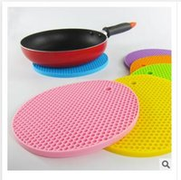 Wholesale Newest Table Mats Colors Non Slip Heat Resistant Mat Coaster Cushion Placemat Pot Holder Table Silicone Mat Kitchen Accessories Dhgate