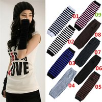 Wholesale New Arrivals Women Lady Mitten Gloves Knitted Wrist Arm Hand Long Fingerless Winter Warmer EA25