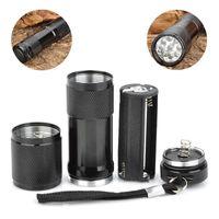 Cheap 2015 New 9 LED Purple Light UV Aluminum Alloy Flashlight Torch 385~395nm1pc free shipping F50HM513#M1