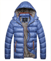 goose feathers - Fall Goose Feather Jacket High quality Mens Padded Jacket Outdoor Hooded Puffer Goose Down Parka Coat Waterproof Goose Feather Jacket