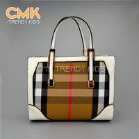 Hangbags girls handbags - CMK KB088 Checkered color PU leather Elegant x20x12cm Girls handbags Shoulder Bag Handbag Children Bags Kid Handbags