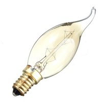 antique tail lights - Excellent QualityE14S W Incandescent Vintage Antique Filament Clear Glass Bulb Pull Tail Decoration Candle Light Lamp V