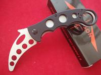 Cheap Emerson Fox Knives Trainer Karambit Folder Knife Black G-10 DULL 440C steel 58HRC pocket knife knives with retail box