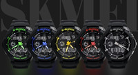 analog meter - Mix Colors elegant wrist SKM watch with hard rubber band Meter Dial Men Wrist skmei Watch SK002