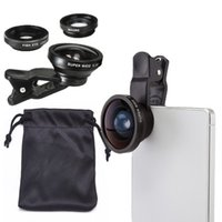 Wholesale New in1 Clip X Super Wide Angle FishEye Micro Camera Lens for iPhone Samsung HTC