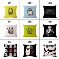 Wholesale Cotton Linen Star Wars Pillow Cover Home Decorative Pillowcase Throw Pillow Cushion Case Star Wars Pillowcase CM