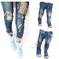 stretch jeans - 2015 Sexy Women Stretch Pencil Pants Casual Slim Leopard Skinny Jeans Denim Trousers