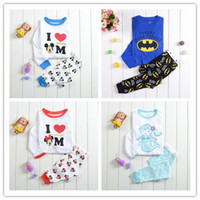 bargain - Many children clothes Cartoon cotton pajamas per sets kids babies clothing Bargain price long sleeve models T T