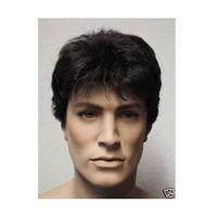 average man - New Full Wig Man Fashion Short Black Hair Cos Wig