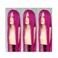 avenue free shipping - gt gt Temple Avenue Cosplay Party Long Wig Fashion Pink Red Cos Wig Hair