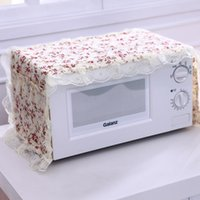 Wholesale dam Mona series cotton pastoral eglantine microwave oven microwave oven set dustproof cover cover of microwave oven