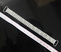 accessories for swimming - 10pcs ROWS Full Crystal Rhinestone Bikini Connectors Buckle Silver Metal Chain For Swimming Wear Bikini Decoration