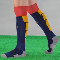 Wholesale New Famous Club Men s Sport Football Soccer Socks Above Knee Tube Durable Sock Stockings