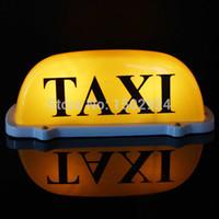 al por mayor tamaños de las bases de bulbo-De gran tamaño del coche 12V Taxímetro Cab Roof Topper sesión bulbo de lámpara de Luz en la base Longitud del alambre amarillo magnético: 68cm