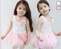 Wholesale 2014 Summer Flower Girl Child Sets Net Veil Lined With Cotton Sling Dress Leggings set
