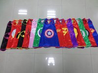 Wholesale 2015 superhero capes party favors customize logo super hero mono layer super hero capes