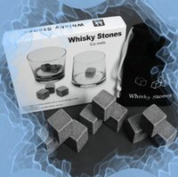 Wholesale Piece Set Sets Whiskey Stones Whisky Rocks Whiskey Chilling Stones Drinks Cool Alhocol Liquor Cooler