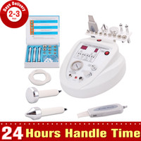 Wholesale 3In1 Face Lifting Spa Ultrasound Skin Rejuvenation Dermabrasion Microdermabrasion Ultrasonic Skin Scrubber Whiten Anti aging Beauty Machine