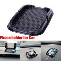 Wholesale Multi functional car Anti Slip pad Rubber Mobile Phone Shelf Antislip Mat For GPS MP3 IPhone Cell Phone Holder iphone samsung Free ship