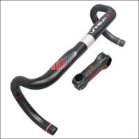 Wholesale Full carbon handlebar manillar carbono carretera xinshun bike accessories carbon road bike handlebars carbon stem BH08
