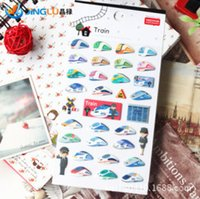 Wholesale New Train Decorative D Stickers Decoration Label Multifunction Funny Gift