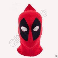 Wholesale 300pcs LJJC3517 New Arrival Deadpool Mask Cosplay Balaclava Halloween Cosplay Costume X men Hats Arrow Deathstroke Rib Fabric Full Face Mask
