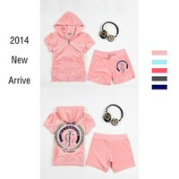 Cheap Womens Fashion Pink Velour Hooded Sweat Suits Short Sleeve Top Short Pants Jogging Suit For Women Tracksuit Sportswear Sets