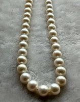 Wholesale new natural AAA mm WHITE round australia south sea FRESHWATER PEARL NECKLACE inch14k