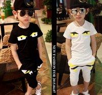 Wholesale 2015 bobo chose children clothing set white black summer baby boy clothing set for T T T T T T hcc