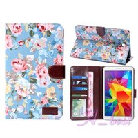 Wholesale For Galaxy Tab T230 T330 T320 T700 T800 Flower Leather Case Wallet Stand Flip Phone Bag For Samsung Galaxy Tab T230 Leather Case