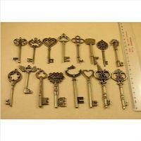 Fashion antique key - Mixed Antique Bronze Key Charms Pendants