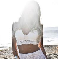 crochet bikini - Crochet beach Bikini swimwear sexy fashion handmade crochet Bikini bra Crop top Custom colors