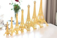 Wholesale New Gold Paris D Eiffel Tower model Alloy Eiffel Tower Metal souvenir Wedding centerpieces table centerpiece