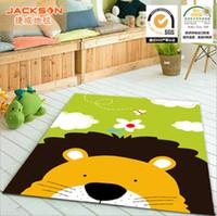 big pile - Children s cartoon lovely Big lion carpet environmental protection non slip nylon Living room bedroom carpet size X130CM