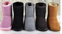 Wholesale Austra Snow boots boy girl real cowhide boots waterp roof warm children s boots Fashionable boots for Kids