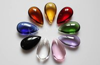 Wholesale mm Mixed colors colors Crystal Glass Lamp Prism Parts Crystal chandelier parts crystal waterdrop