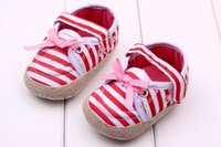 shoe factory - Factory direct babyshows baby toddler shoes baby shoes soft bottom shoes striped princess SKU A033