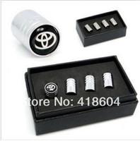 Wholesale Chrome Metal Wheel Tire Valve Caps Stem Air For Toyota Corolla Camry Reiz Highlander RAV4