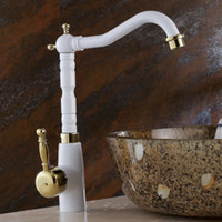 bathroom basins and cabinets - European pastoral style kitchen sink hot and cold taps bathroom basin bathroom cabinet Wei basin taps white LX B
