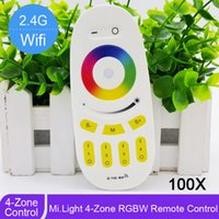 bright color led bulb - 100pcs Mi light G Zone RGBW Led Controller Wireless RF Remote Controller Button Touch Color Bright for bulb or strip