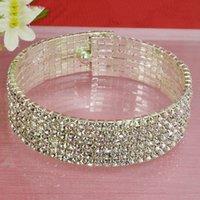 Wholesale High grade diamond studded collar Korean women stretch six laps diamond studded collar collar woman stage performances jewelry