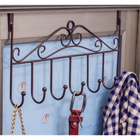 Wholesale European Creative Free Installation Iron Door Hanger Bedroom Coat Rack Hook