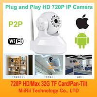 Wholesale MiiRii HDM1 HD P2P WIFI Webcam Wireless IP Camera Night Vision WIN8 OS G Phone Viewer Indoor Security P H Camera