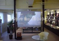 Wholesale 1 m x m hot selling D holographic proyector screen film for large stage use rear projector screen film