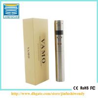 Wholesale New ecig vamo v5 battery mod e cigarette gift box package e cig vamo v5 LCD display variable voltage ego battery high quality mini mod mods