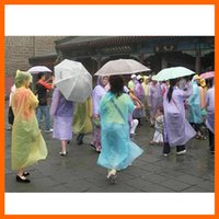 Wholesale PE Disposable Raincoats Poncho Rainwear Fashional Travel Rain Coat Rain Wear gifts mixed colors