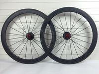 Wholesale Road Bike mm Carbon black FFWD Wheels full Carbon fiber Wheelset matte glossy Carbono wheels Tubular clincher Carbon Wheel