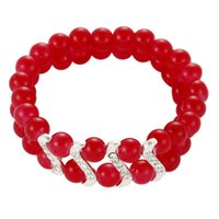 acrylic paint stores - 2015 Special Offer Time limited Link Chain Unisex Gift Korean Jewelry Store Selling Glass Paint Supply Beaded Bracelet Alloy Diamond Amoy