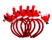acrylic antler hair accessory - NEW Children s Hair Accessories Kids Christmas Antler Hairbands for girl performance headwear hair accessories HH35